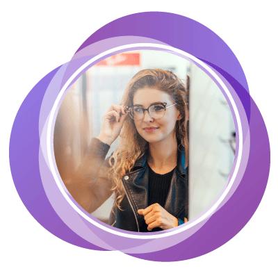 Quantum - Perfekte Modebrille für ein rundes Gesicht - brille