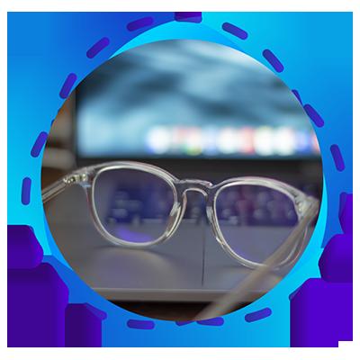Quantum - transparante modelenzen - brille